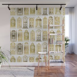 Moroccan Doors – Gold Palette Wall Mural