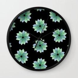 Geo Spring Flowers 04 Wall Clock