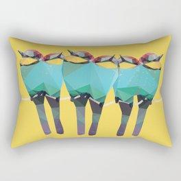Low Poly Bee-eaters - Birds Rectangular Pillow