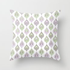 Pretty Leaves all in a Line Throw Pillow
