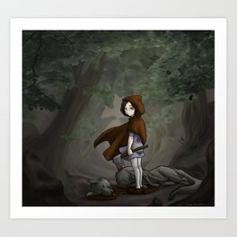 Red Ridding Hood Art Print