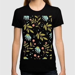 red berries and green leaves T-shirt