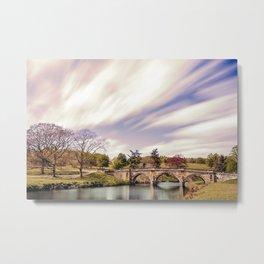 Paine`s Bridge, Chatsworth, Derbyshire, UK. Metal Print