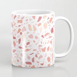 Terrazzo memphis vintage pink yellow orange red Coffee Mug