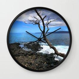 Secret Tropical Cove in Maui, Hawaii Wall Clock