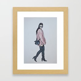 Kourtney Kardashian Framed Art Print