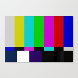 TV bars color testTV bars color test Canvas Print