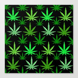 Marijuana Green Weed Canvas Print