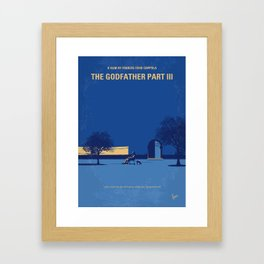 No686-3 My Godfather III minimal movie poster Framed Art Print