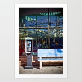 Payphone and Carousels Art Print