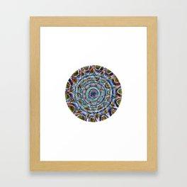 Free Hand Mandala Framed Art Print