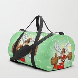 Reindeer Drunk Funny Christmas Character Duffle Bag