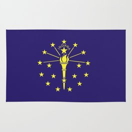 indiana state flag united states of america country Rug