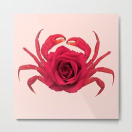 ROSE CRAB Metal Print