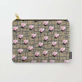 Flower Grid Carry-All Pouch