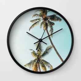 Palm Tree Beach Summer Wall Clock