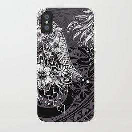 Slate Polynesian Tribal Threads Grunge iPhone Case