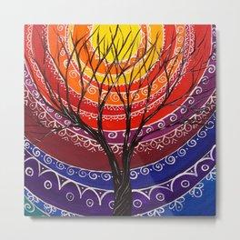 Mandala tree 256 Metal Print