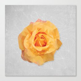 Amber Poly Rose Canvas Print