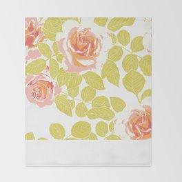 rose garden pink Throw Blanket