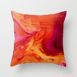 Abstract Hurricane II by Robert S. Lee Throw Pillow