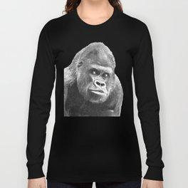 Black and White Gorilla Long Sleeve T-shirt