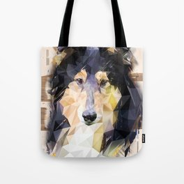 Rough Collie (Low Poly) Tote Bag