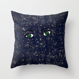 StarFace Throw Pillow