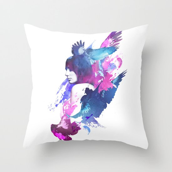 Bloody Fight Throw Pillow