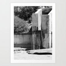 Runoff Waterfall Art Print