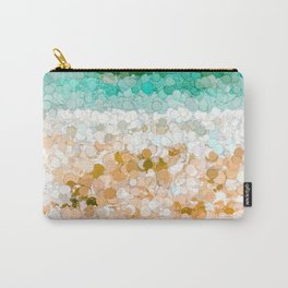 On the beach abstract painting Carry-All Pouch