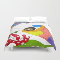 "submarine Duvet Covers featuring ""Submarine II"" by Holly Lynn Clark"