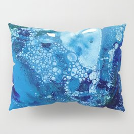 Environmental Blue Leaves, Tiny World Collection Pillow Sham
