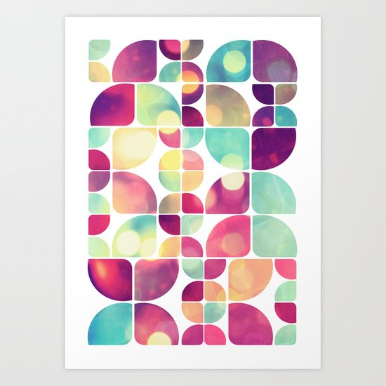 City Lights Pattern Art Print
