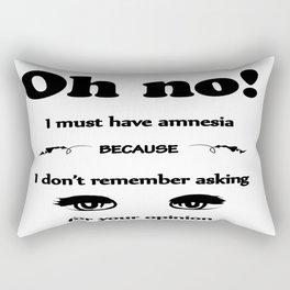 Did. I. Fucking. Ask? Rectangular Pillow
