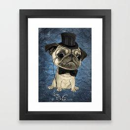 Pug; Gentle Pug (color version) Framed Art Print
