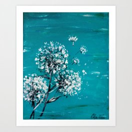 Simple Dandelion Wishes Art Print