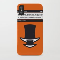 No020 MY David Copperfield Book Icon poster Slim Case iPhone X