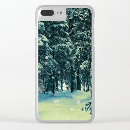 Shadows of white Clear iPhone Case