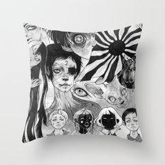 21 eyes Throw Pillow