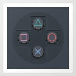 PlayStation - Buttons Art Print