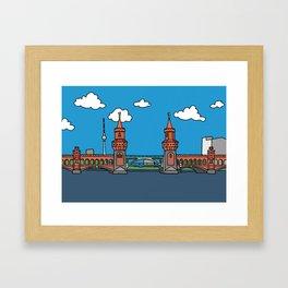 Oberbaum Bridge in Berlin Framed Art Print