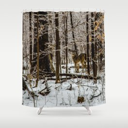 Deer in the Glistening Forest by Teresa Thompson Shower Curtain