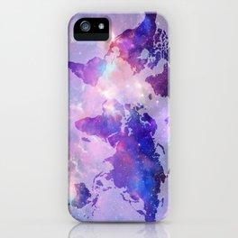 world map galaxy iPhone Case