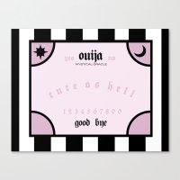 ouija Canvas Prints featuring OUIJA by NicoleSclafaniGFX