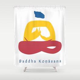 Baddha Konasana (Throne Pose) Yoga Pose Illustration - Series 1 Shower Curtain