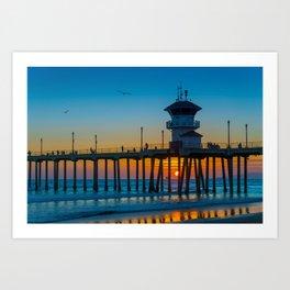 Sunset Under Zero Art Print