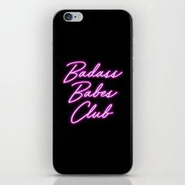 Badass Babes Club iPhone Skin