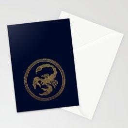 Golden Zodiac Series - Scorpio Stationery Cards