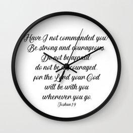 Joshua 1 9 #minimalism Wall Clock